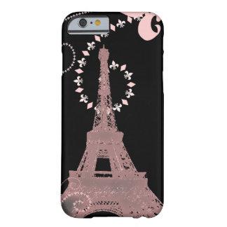 flickaktigt elegant rosa eiffel tornparis vintage barely there iPhone 6 fodral
