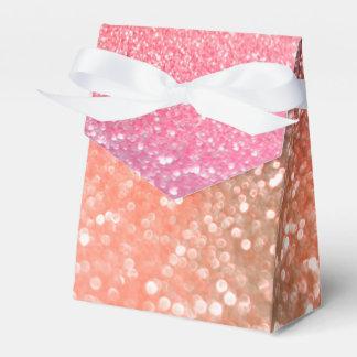 Flickaktigt för guldrodnad för trend rosa glitter presentaskar