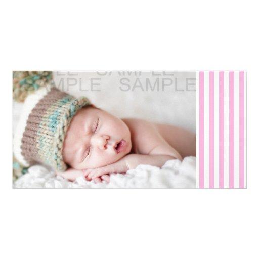Flickaktigt för heltäckanderandar för baby rosa mö anpassingsbara fotokort