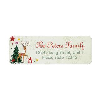 Flickaktigt god julren - adressetiketter