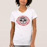 Flickaktigt gullig toppen för day of the deadsocke tee shirts