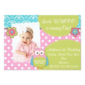 Flickaktigt inbjudan för födelsedag för 12,7 x 17,8 cm inbjudningskort