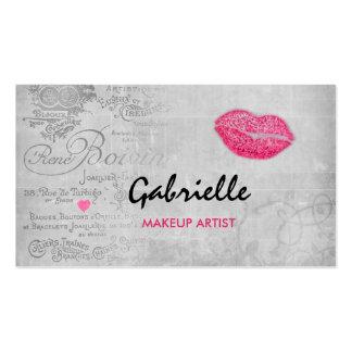 Flickaktigt konstnär för Makeup för kyss för Set Av Standard Visitkort