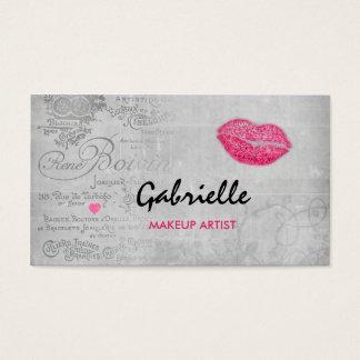 Flickaktigt konstnär för Makeup för kyss för Visitkort