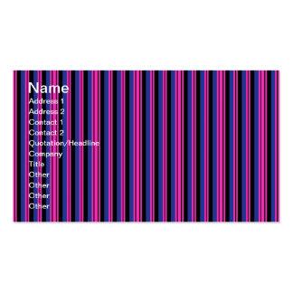 Flickaktigt mönster för randar för rosablåttsvart visitkort