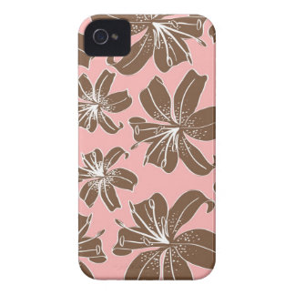 Flickaktigt nätt rosor och det bruna blom- trycket iPhone 4 cover