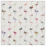 Flickaktigt nyckfullt Retro blom- Flamingosmönster Tyg