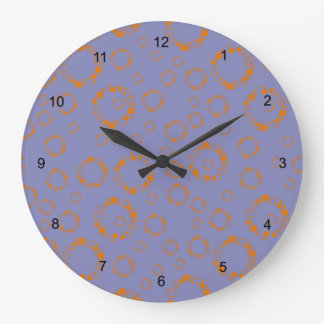 flickaktigt orange lilor cirklar kvadrerar det yr stor klocka