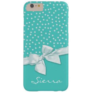Flickaktigt polka dots och pilbågekrickapersonlig barely there iPhone 6 plus fodral