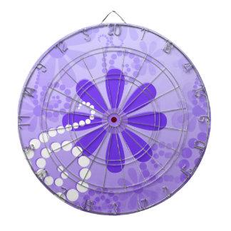 Flickaktigt purpurfärgade blom- Retro blommor Darttavla