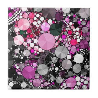Flickaktigt rosa Bling abstrakt Kakelplatta