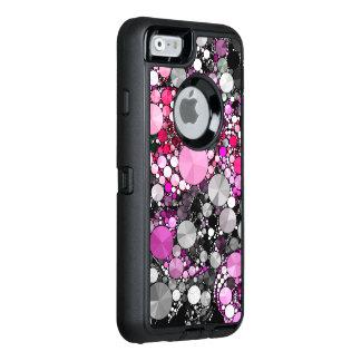 Flickaktigt rosa Bling abstrakt OtterBox Defender iPhone Skal