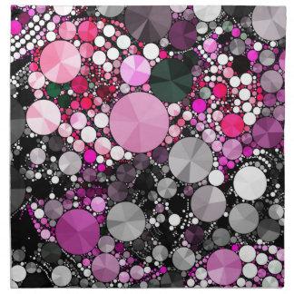 Flickaktigt rosa Bling abstrakt Tygservett