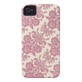 Flickaktigt rosa damast iPhone 4 Case-Mate skal