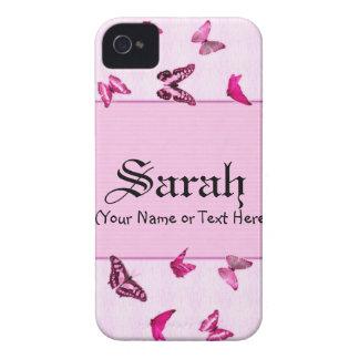 Flickaktigt rosa fjärilar iPhone 4 Case-Mate fodraler