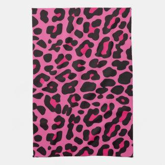 Flickaktigt rosa Leopardtryckkökshandduk Handuk