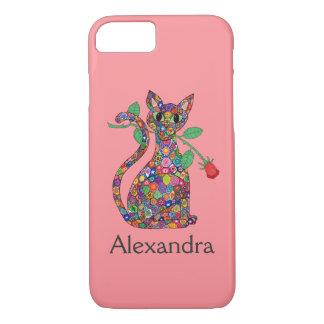 Flickaktigt rosa namn för Millefiori katt- & röd