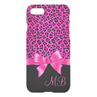 Flickaktigt rosa och svart flott iPhone 7 skal