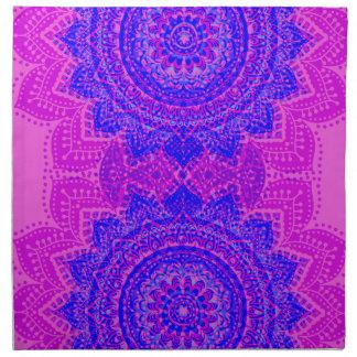 Flickaktigt rosa & purpurfärgad indisk tygservett