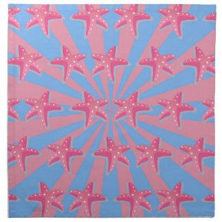 Flickaktigt rosa sjöstjärna tygservett