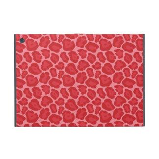Flickaktigt rött Leopardmönster iPad Mini Fodral