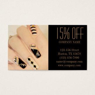 flickaktigt salong för nagel för konstnär för visitkort