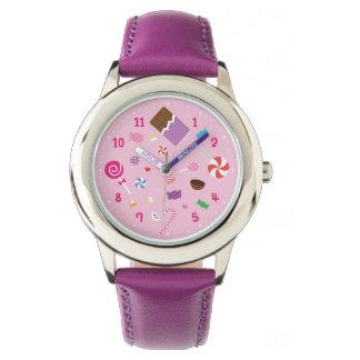 Flickaktigt söt godisflickaklocka armbandsur