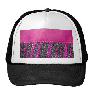 Flickaktigt tryck för glitter för rosaläder zebra  keps