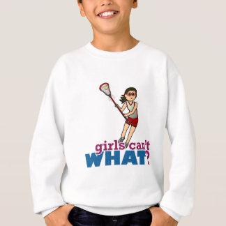 FlickaLacrossespelare i rött T Shirts
