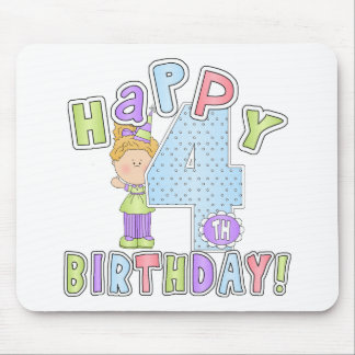 Flickalycklig4e födelsedagen musmattor