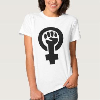 Flickan driver feministiskt symbol t shirt