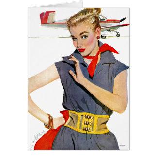 Flickan som stal flygplan hälsningskort