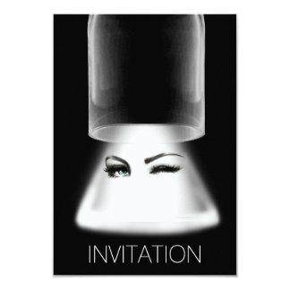 Flickanatten ut festar Vip-inbjudan 8,9 X 12,7 Cm Inbjudningskort