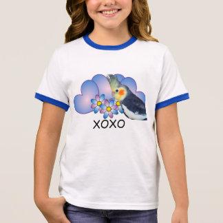 FlickaRingerT-tröja med papegojacockatielen T Shirt