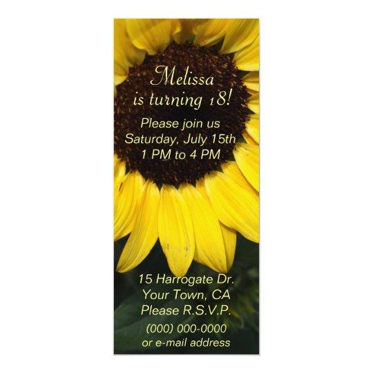 Flickasolrosfödelsedag 10,2 X 23,5 Cm Inbjudningskort
