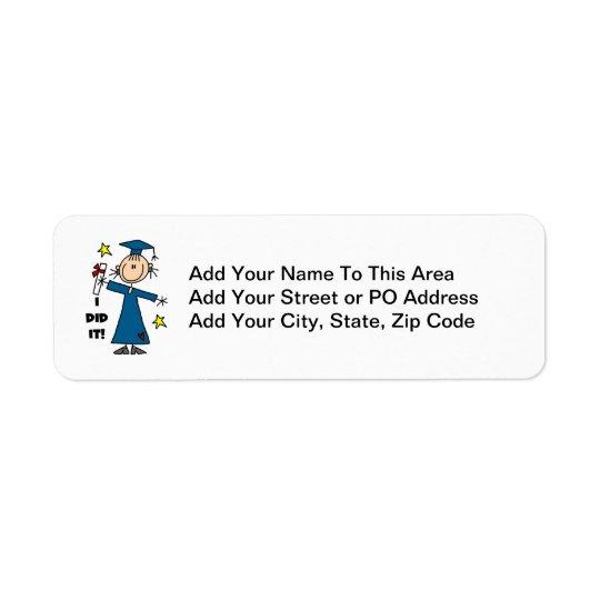 Flickastudent Returadress Etikett