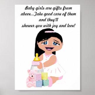 Flickor är välsignelser poster