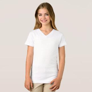 Flickor bötfäller den Jersey V-Nacken T-tröja T-shirt