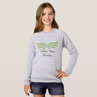 Flickor följer din drömlångärmadT-tröja Tee Shirts