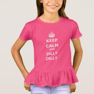 Flickor för behållalugn- och DillyDilly rufsar T Shirt
