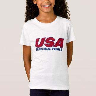 Flickor för den Esprit lagUSA racquetballen T-shirts