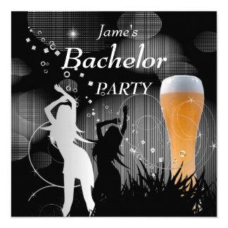 Flickor för exponeringsglas för öl för vit för fyrkantigt 13,3 cm inbjudningskort
