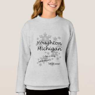 Flickor för Houghton Michigan Snowflakesnö Tshirts
