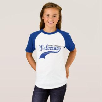 Flickor för WolverinesbaseballRaglan Tröja