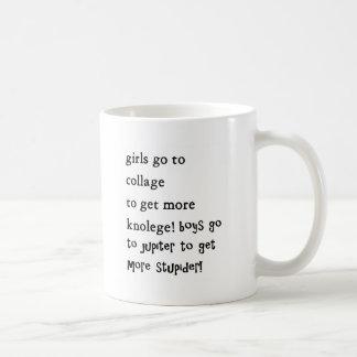 flickor går till callagepojkar går till jupiter kaffemugg