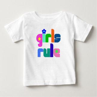 Flickor härskar den bebis-/småbarnt-skjortan tee shirt