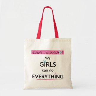 Flickor kan göra allt totot hänger lös budget tygkasse