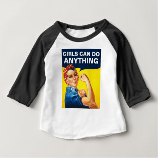 Flickor kan göra något t shirt