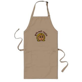 Flickor kan inte VAD? LogotypHuvud-Blondin Långt Förkläde