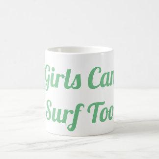 Flickor kan surfa för muggen kaffemugg